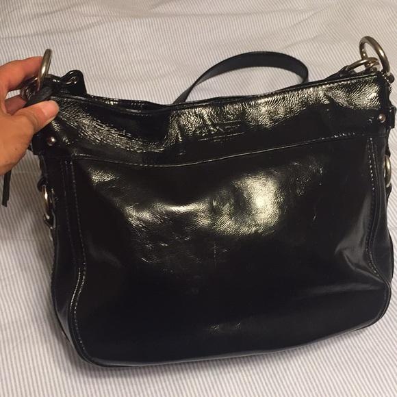 Coach Handbags - Coach black leather handbag crossbody and shoulder